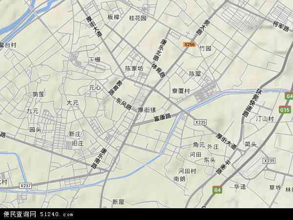 中国广东省东莞市厚街镇地图(卫星地图)