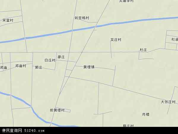 中国山东省菏泽市牡丹区黄堽镇地图(卫星地图)