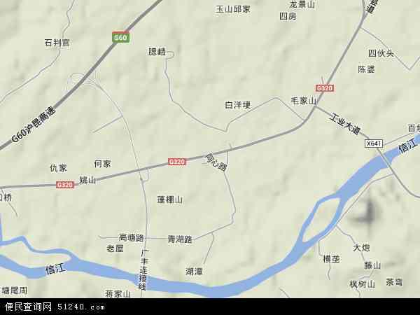 中国江西省上饶市广丰县湖丰镇地图(卫星地图)图片