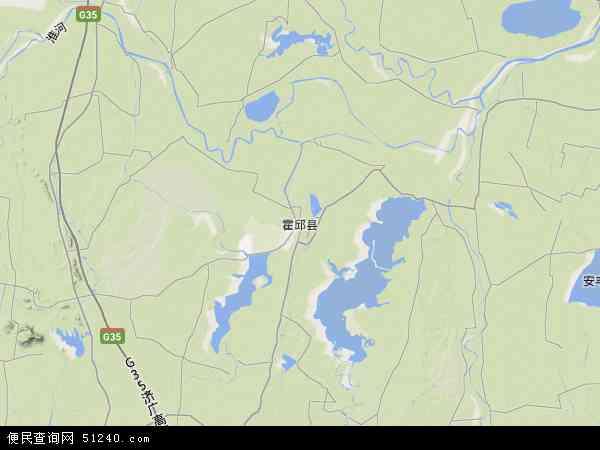 霍邱县地图 - 霍邱县卫星地图