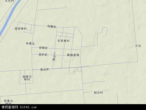 中国山东省潍坊市坊子区黄旗堡地图(卫星地图)图片