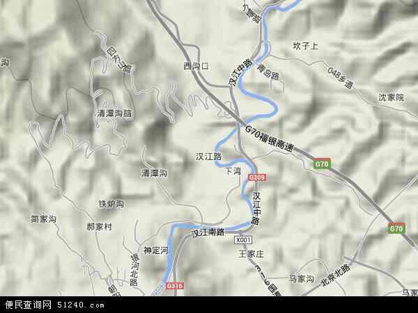 汉江路地图 - 汉江路卫星地图