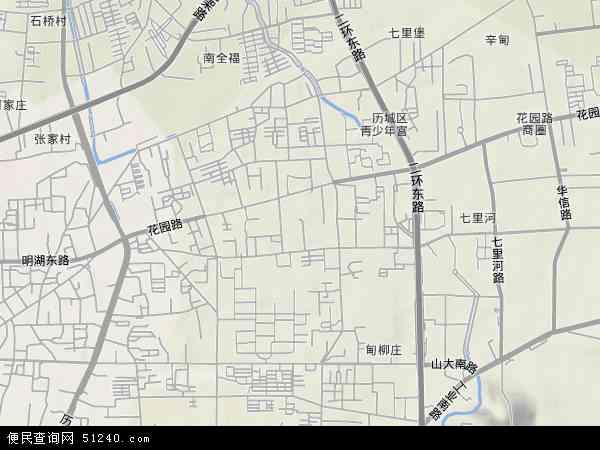 洪家楼地形图 - 洪家楼地形图高清版 - 2017年洪家楼地形图