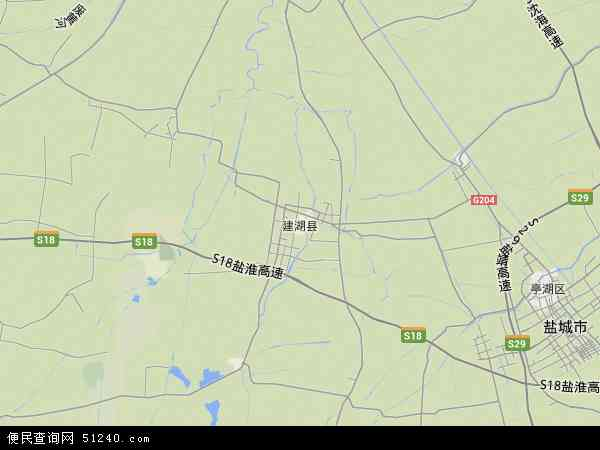 建湖县地图 - 建湖县卫星地图