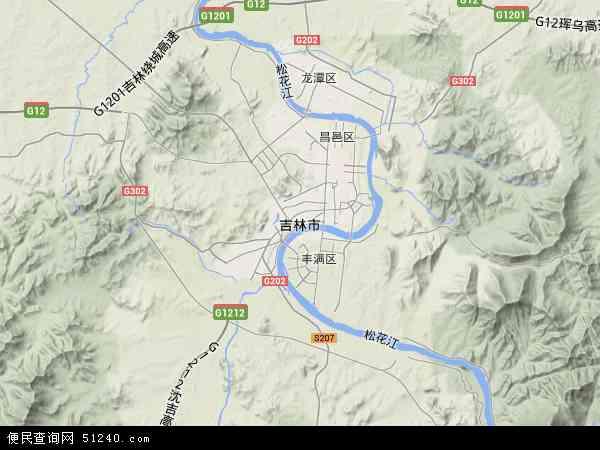 中国吉林省吉林市龙潭区金珠镇地图(卫星地图)