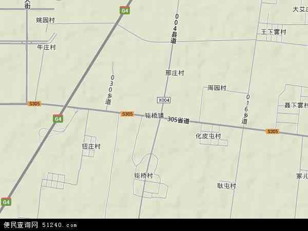 钜桥镇地图 - 钜桥镇卫星地图