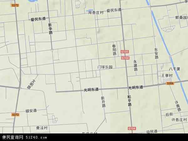 中国河北省廊坊市广阳区解放道地图(卫星地图)