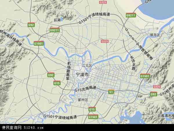 江北区地图 - 江北区卫星地图