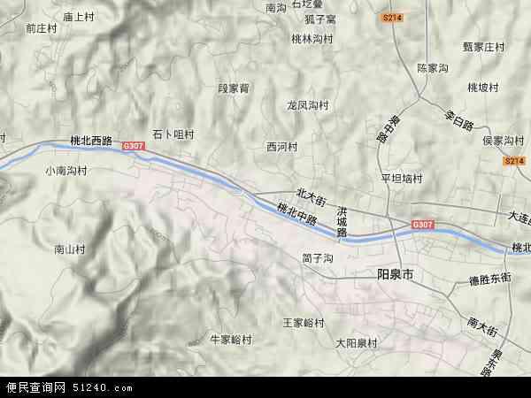 中国山西省阳泉市矿区地图(卫星地图)