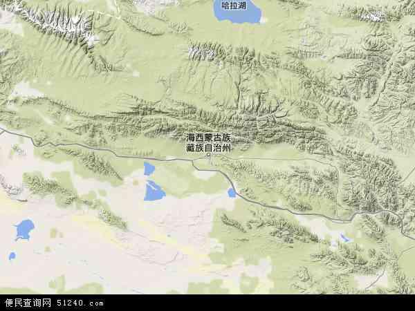 中国青海省海西蒙古族藏族自治州德令哈市柯鲁柯镇地图(卫星地图)