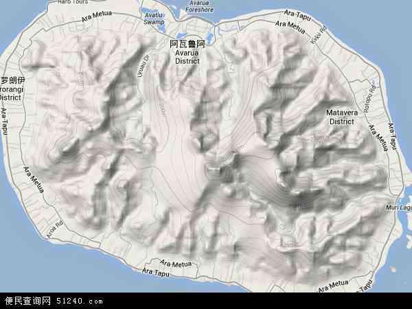 库克群岛地形图 - 库克群岛地形图高清版 - 2016年库克群岛地形图