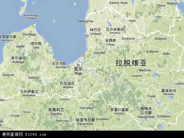 拉脱维亚地形图 - 拉脱维亚地形图高清版 - 2016年拉脱维亚地形图