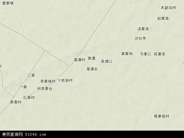 中国湖北省孝感市汉川市里潭乡地图(卫星地图)