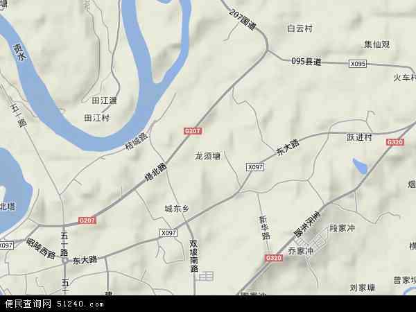 中国湖南省邵阳市双清区龙须塘地图(卫星地图)