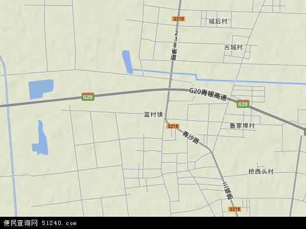 中国山东省青岛市即墨市蓝村镇地图(卫星地图)