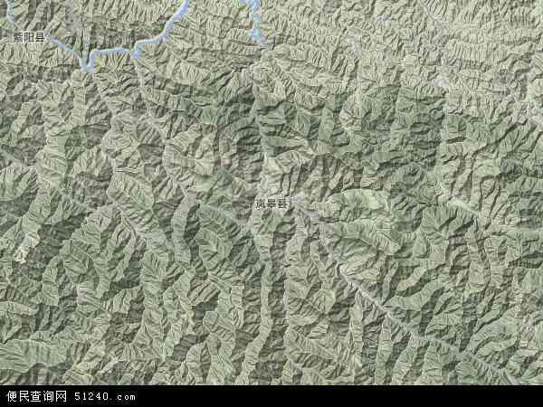 中国陕西省安康市岚皋县地图(卫星地图)