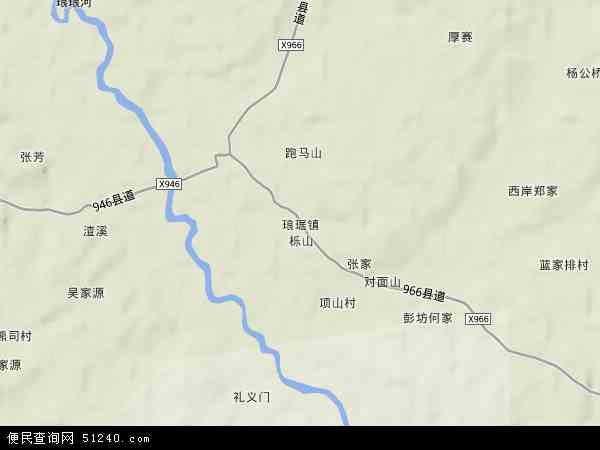 中国江西省抚州市金溪县琅琚镇地图(卫星地图)