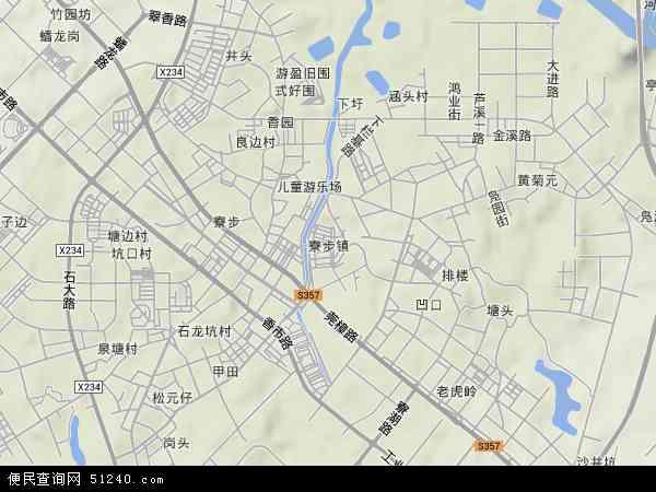 中国广东省东莞市寮步镇地图(卫星地图)