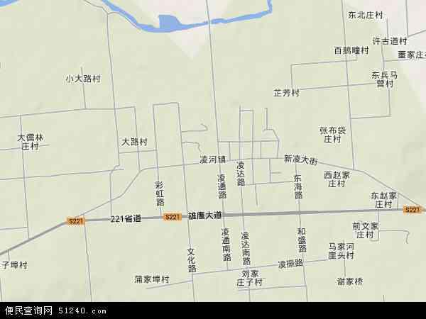 中国山东省潍坊市安丘市凌河镇地图(卫星地图)