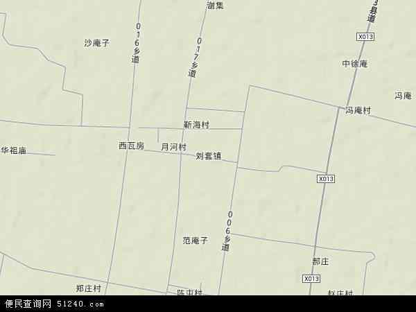 中国安徽省宿州市萧县刘套镇地图(卫星地图)