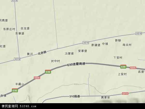 中国陕西省渭南市华县柳枝镇地图(卫星地图)
