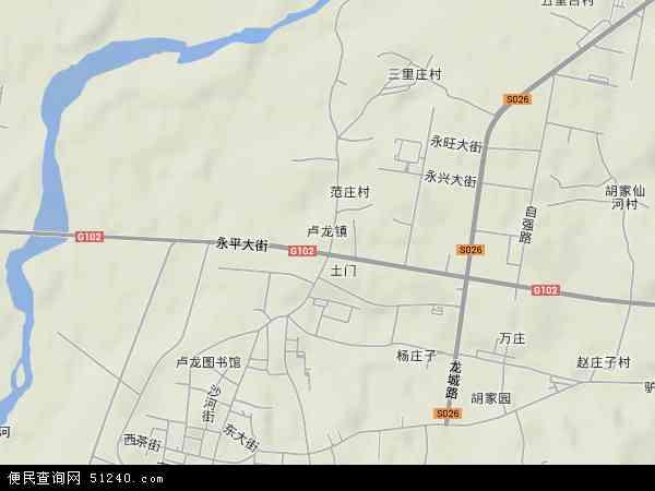 中国河北省秦皇岛市卢龙县卢龙镇地图(卫星地图)