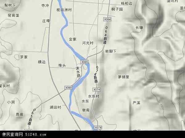 中国湖南省株洲市炎陵县鹿原镇地图(卫星地图)