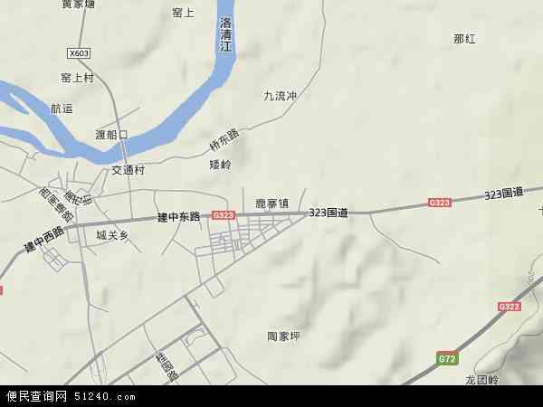 中国广西壮族自治区柳州市鹿寨县鹿寨镇地图(卫星地图)