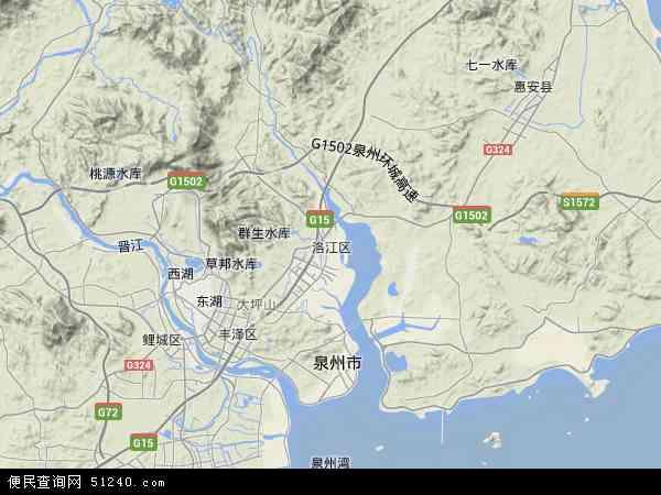 中国福建省泉州市洛江区地图(卫星地图)