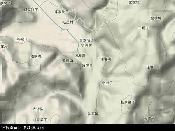 麻乍乡2018年卫星地图 中国贵州省毕节市威宁彝族回族苗族自治县麻