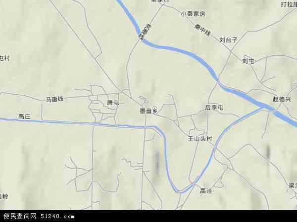 墨盘乡地图 - 墨盘乡卫星地图
