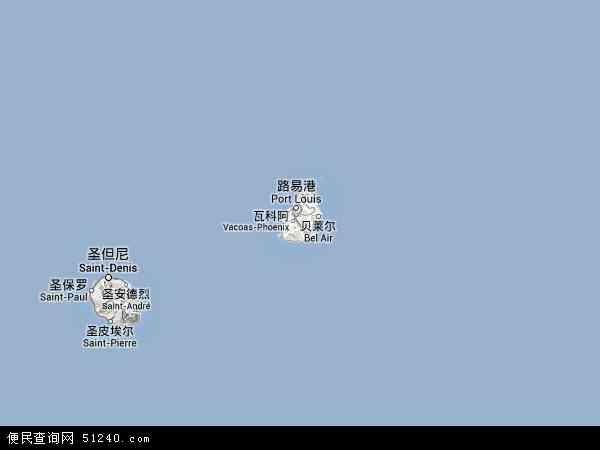 毛里求斯地形图 - 毛里求斯地形图高清版 - 2016年毛里求斯地形图