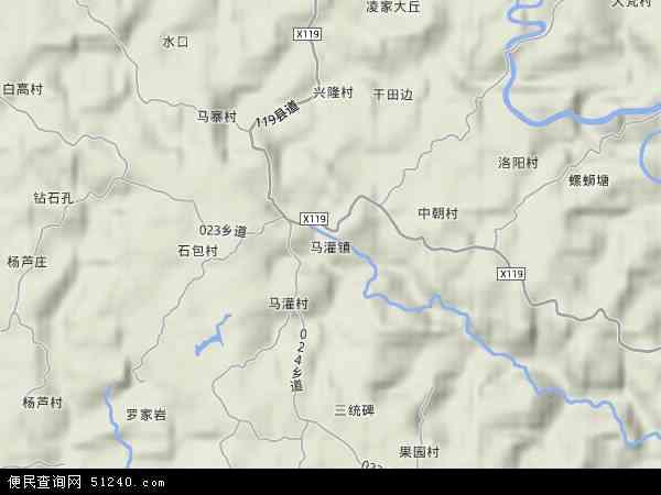 中国重庆市忠县马灌镇地图(卫星地图)