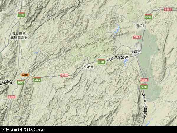 中国云南省曲靖市马龙县地图(卫星地图)