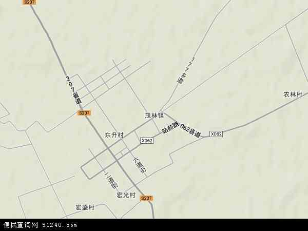 中国吉林省四平市双辽市茂林镇地图(卫星地图)