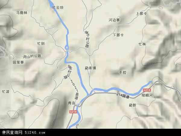 勐库镇地图 - 勐库镇卫星地图