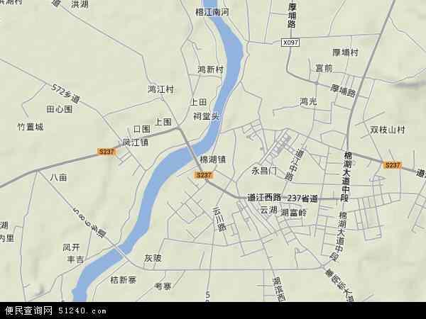 中国广东省揭阳市揭西县棉湖镇地图(卫星地图)图片