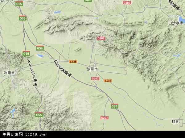 中国河南省平顶山市汝州市米庙镇地图(卫星地图)