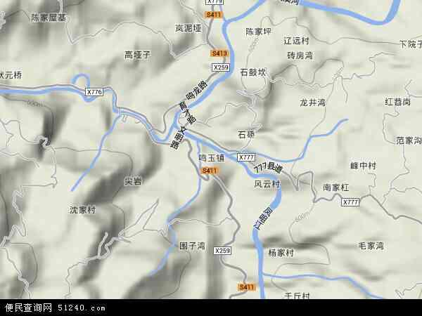 鸣玉镇地图 - 鸣玉镇卫星地图 - 鸣玉镇高清航拍地图