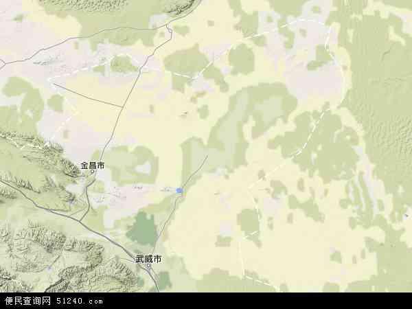 中国甘肃省武威市民勤县地图(卫星地图)