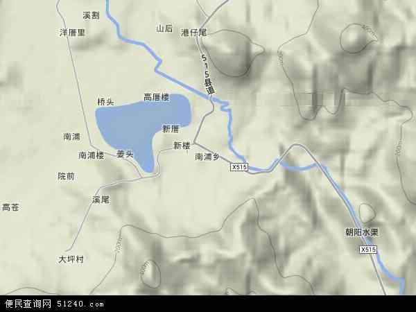 中国福建省漳州市漳浦县南浦乡地图(卫星地图)