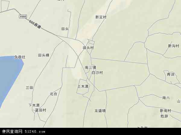 中国广东省湛江市坡头区南三镇地图(卫星地图)
