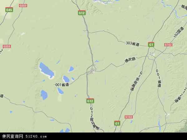 中国吉林省长春市农安县地图(卫星地图)