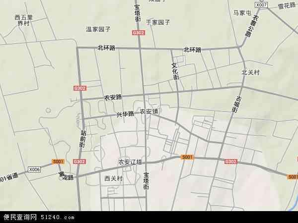 中国吉林省长春市农安县农安镇地图(卫星地图)