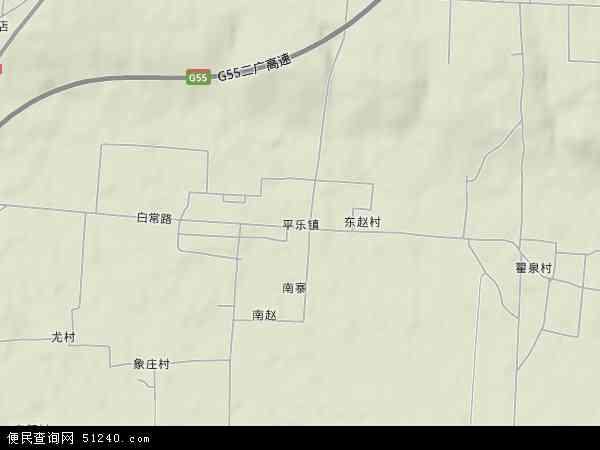 平乐镇地图 - 平乐镇卫星地图