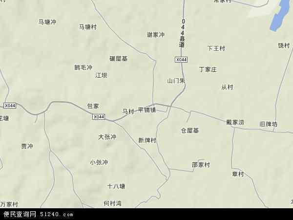中国安徽省芜湖市繁昌县平铺镇地图(卫星地图)图片