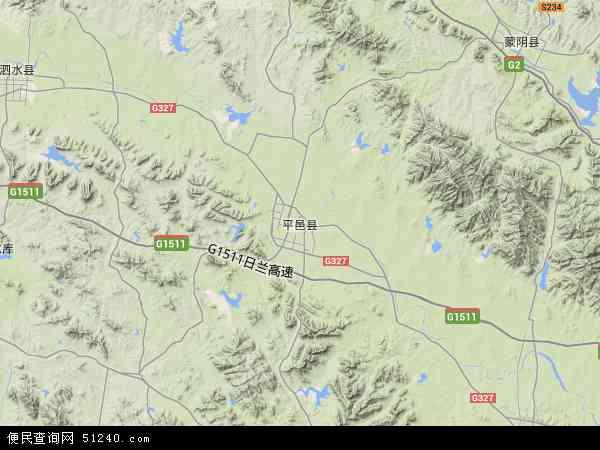 中国山东省临沂市平邑县地图(卫星地图)