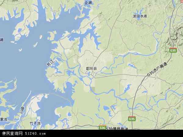 鄱阳县地图 - 鄱阳县卫星地图