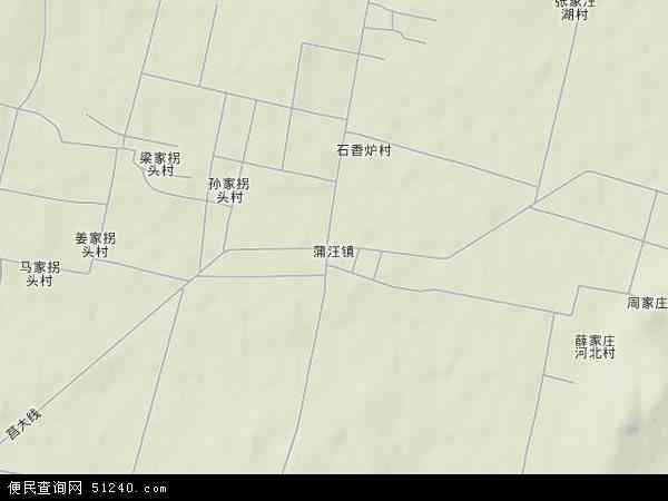 中国山东省临沂市沂南县蒲汪镇地图(卫星地图)