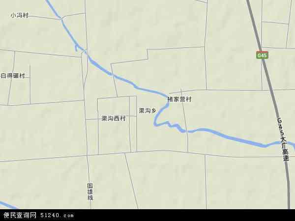 中国河北省廊坊市固安县渠沟乡地图(卫星地图)